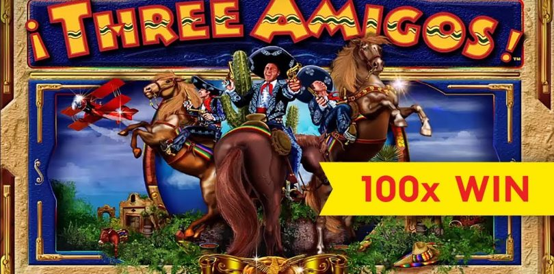Three Amigos Slot — BIG WIN, GREAT BONUS!