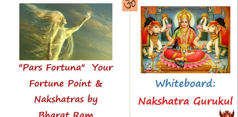 Whiteboard: «Pars Fortuna»  Your Fortune Point & Nakshatras by Bharat Ram