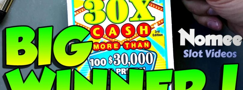 ★ BIG WINNER!!! ★ «30X CASH» Instant Lottery Scratch Off ★ $30 Ticket!