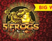 5 Frogs Slot — Super Feature Bonus, BIG WIN!