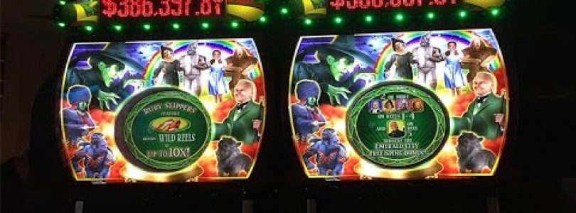 Ruby slippers slot at MGM Grand. BIG WIN!