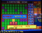Winner Keno Slot Machine Indian Casino $2560.00 Lightning Gambling Huge Win Video