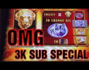 MASSIVE WIN ON BUFFALO GOLD SLOT MACHINE * THIS VIDEO WILL GIVE YOU ANXIETY …….IM SORRY  :)