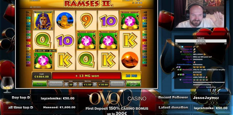Big Bet! Mega Big Win From Ramses 2 Slot!!