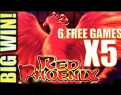 ★SUPER RED PHOENIX★ BIG WIN! W/ POWER STRIKE Slot Machine Bonus