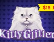 Kitty Glitter Slot — DRAMATIC & BIG WIN BONUS — $15 Max Bet!