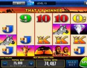 Heart of Vegas android casino big win in free spins