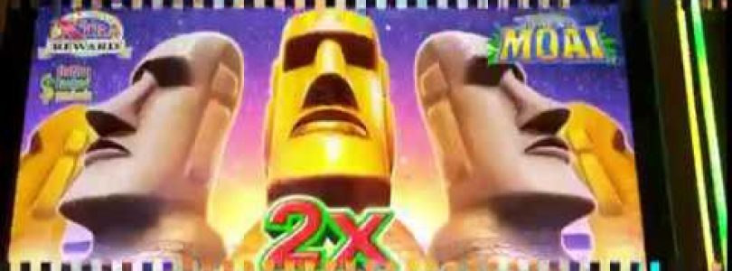 GREAT MOAI ~ Big Win on 1st Spin Bonus ~ Live Slot Play @ San Manuel