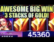 ★AWESOME BIG WIN! 3 STACKS OF GOLD!★ LOCK IT LINK $5.00 BET! W/ 5 HEART TRIGGER!! Slot Machine Bonus