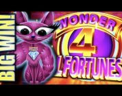 ★BIG WIN!! SUPER FREE GAMES!★ MISS KITTY GOLD WONDER 4 TALL FORTUNES Slot Machine Bonus (Aristocrat)