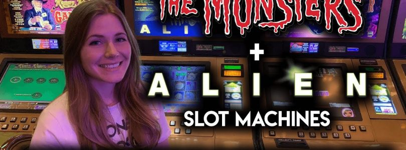 Happy Halloween! BIG WIN! Perfect Picking on Alien Slot Machine + The Munsters Slot Machine BONUS!