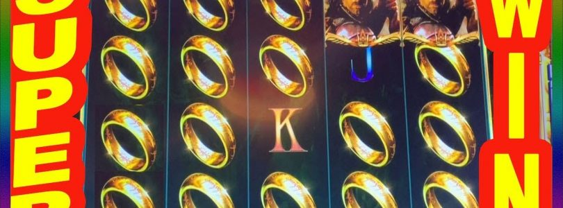 ** SUPER BIG WIN ** LORDS OF THE RINGS SLOT MACHINE  ** SLOT LOVER **