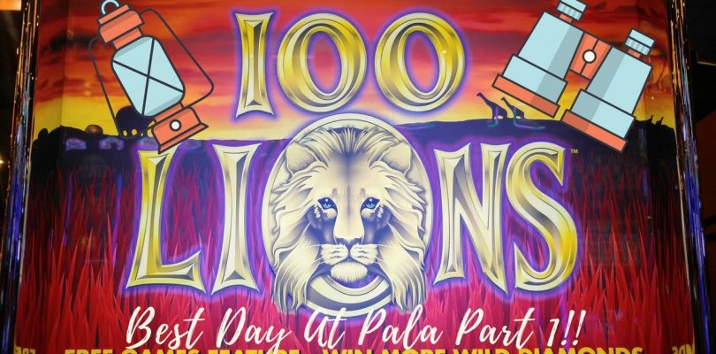 VERY BIG WIN! 100 LIONS SLOT MACHINE — PALA CASINO PART 1.  Aristocrat Classic
