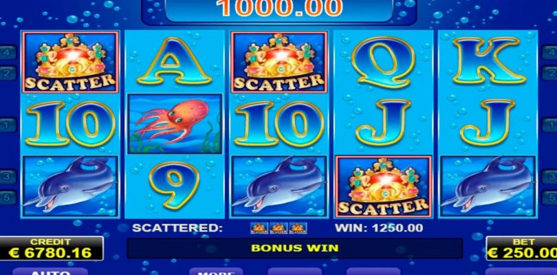 Blue Dolphin Amatic Casino Game. My super Win  €26500