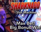 Sharknado Slot Machine BIG WIN! Max Bet*Bonus!! Down to the last Spin!!!