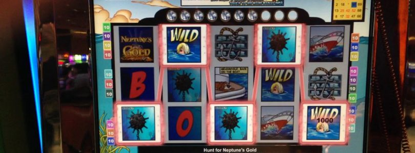 VGT «The Hunt For Neptune's Gold»  Big Win Red Screens.  Choctaw Gaming Casino, Durant, OK.