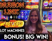 BIG WIN on Dragon Link! + Max Bet Fast Cash Timberwolf Slot Machine!