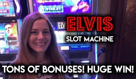 BIG WIN! EPIC Run! on Elvis Shake Rattle and Roll Slot Machine! So Many BONUSES