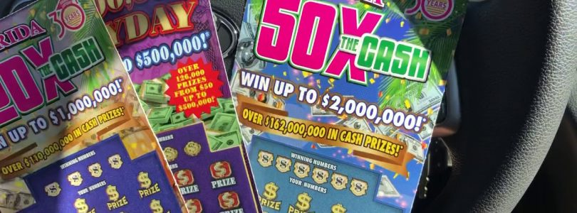 "Big Win!!20x The Cash,50x The Cash $500K Payout!! ""Florida lottery Scratchoffs """