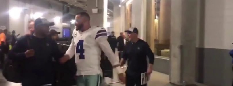 Watch Dallas Cowboys players celebrate a huge win over Atlanta Falcons
