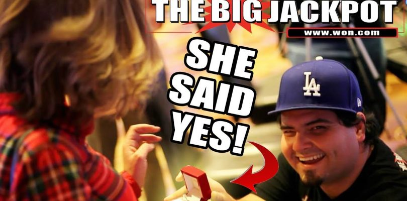 1st LIVE Marriage Proposal?! BIG WIN on Queen of the Nile w/ The Big Jackpot | The Big Jackpot