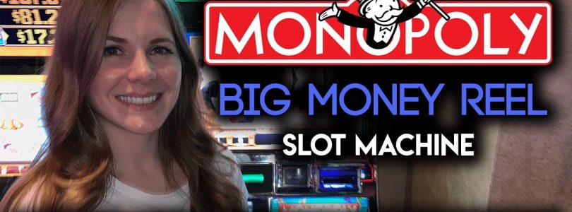 Max Bet! Bonuses + Re-Triggers on Monopoly BIG MONEY Reel! Nice WIN!
