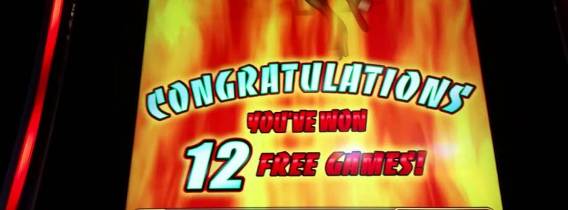 Big Win! Blazing Peppers slot machine bonus round at Empire City casino