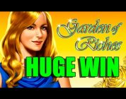 Online slots BIG WIN 8 euro bet — Garden of Riches HUGE WIN with epic reactions