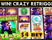 BIG WIN on BUFFALO FAST CASH SLOT MACHINE! SO MANY RETRIGGERS!!!
