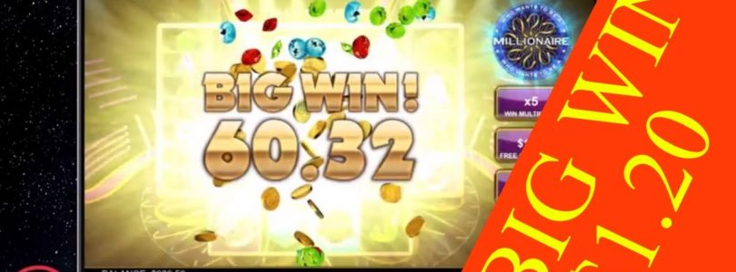 Who Wants to be a Millionaire BIG WIN 1,20BET Online slot
