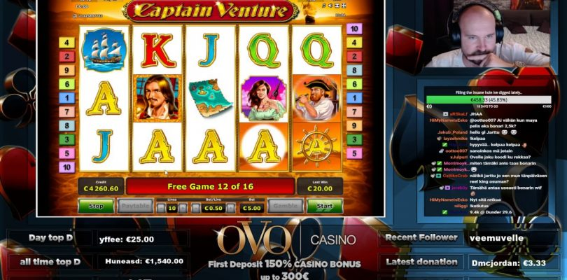 Big Win From Captain Venture Slot At OVO Casino