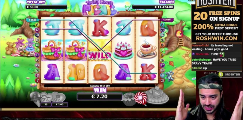 Teddy Bears Picnic — Highrolling with Big Win — Slot by Microgaming — Online Casino Games