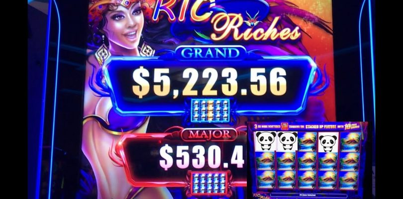 A surprise Huge win on Rio Riches Stacked Up Slot !