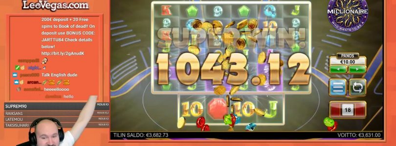 Mega Big Line Hit Win From Who Wants To Be A Millionaire Slot!!