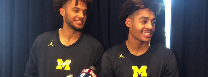 Jordan Poole and Isaiah Livers talk the big win over S. Carolina