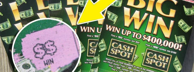 WE GOT THE $$ AGAIN!!..»BIG WIN» LOTTERY TICKET SCRATCH OFF!!