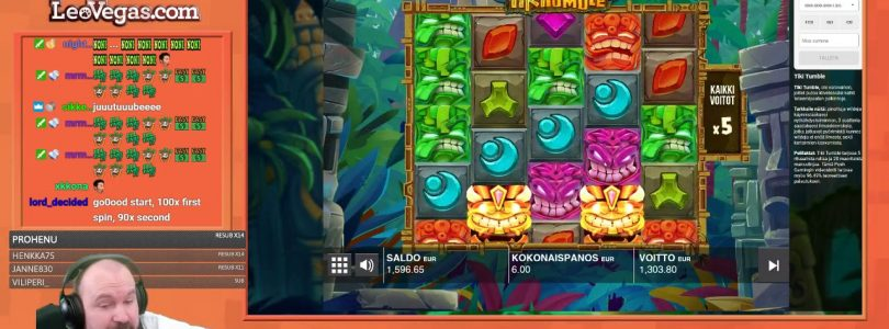 Big Win From Tiki Tumble Slot!!