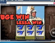 BIG WIN!!! IVANHOE Bonus round from LIVE STREAM (Casino Games) HUGE WIN