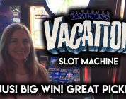 Biggest WIN on Youtube for Vacation Slot Machine! Awesome BONUS!