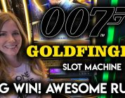 James Bond Goldfinger Slot Machine! BIG WIN!! Awesome Run!!
