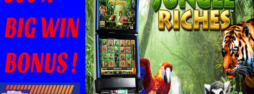 ** BIG WIN BONUS ** 300X **  OVER 60 FREE GAMES ** JUNGLE RICHES BY IGT