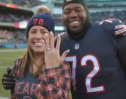 Chicago Bears Player Surprises Girlfriend with Field Proposal After Big Win