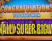 ★FINALLY SUPER BIG WIN☆5 DRAGONS GRAND Slot machine★Sweet Dragons ! ☆彡 栗スロット/カジノ