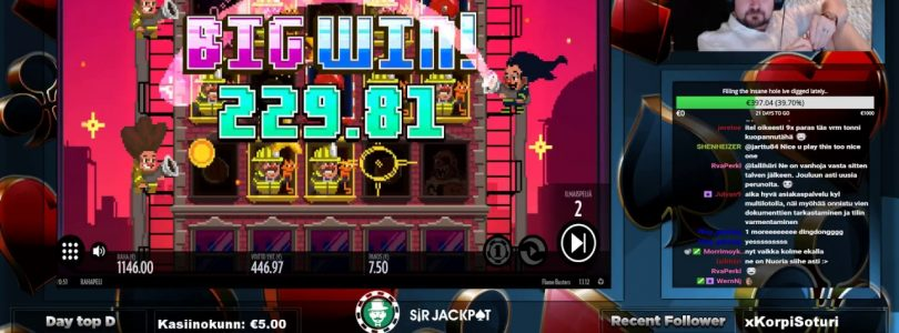 Big Win From Flame Busters At Sir Jackpot Casino