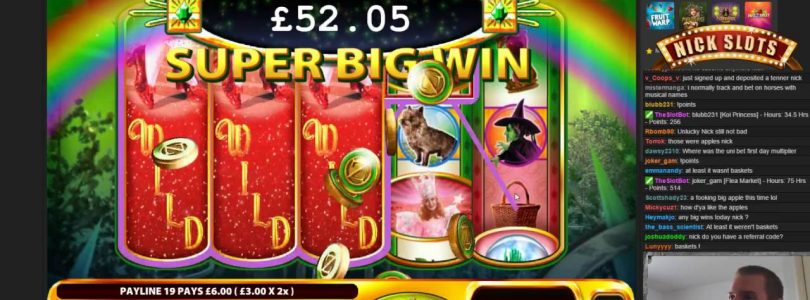 BIG WIN on Ruby Slippers — £0.60 Bet