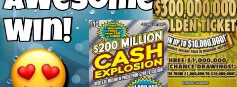 BIG WIN! 6 WINS ON 1 TICKET! $30 Golden Ticket (Missouri) & $10 Cash Explosion Texas Lottery