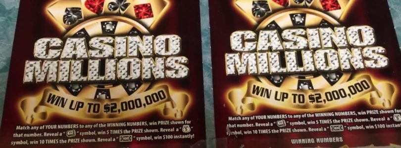 BIG WIN! TWO $20 Casino Millions Instant Scratchcards