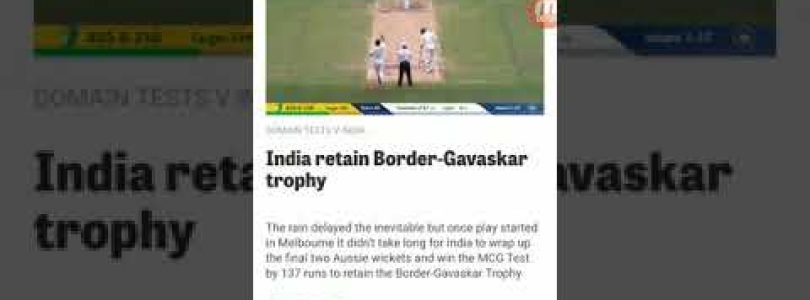 Indian big win in 3rd test