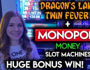MOST MONEY BAGS EVER!! HUGE WIN!! Monopoly Money Slot Machine!!
