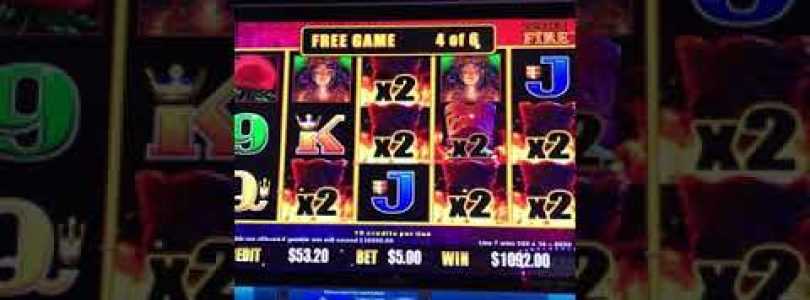 Lightning Cash TIKI FIRE Poker Machine Casino Big Win on $5 bet